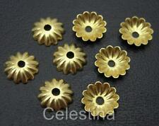 200 x Gold Colour Flower Bead Caps - 6mm - Daisy Caps BC4
