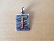 """New Gold and silver pendant  Colgante de oro y plata - Letra Letter """" T """"  Nuevo"""