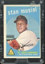 Stan Musial Topps Baseball Cards - 3 Different (1959 VG+/EX, 58 VG+/EX, 60 GD)
