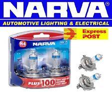 NARVA H4 +100% PLUS 100 HALOGEN HEADLAMP LIGHT BULBS NEW GLOBES 48342BL2