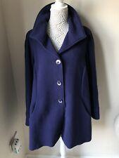 David Nieper Purple Wool Size 18 Winter Coat