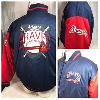 Vintage 90s Atlanta Braves Geniune MLB Jacket #1 Apparel Men's XL Color Block