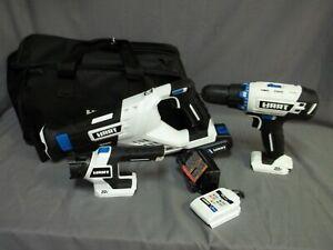 Hart Cordless 3-Tool Combo Kit 20V System W/ Storage Bag