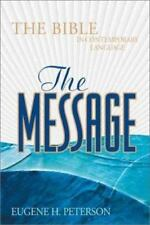 The Message: The Bible in Contemporary Language: Black Bonded Leather