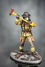 Toy Soldiers Painted FireFighter Tin Metal Fireman Hero 1/32 Action Figure 54mm