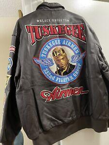 tuskegee airmen leather flight jacket