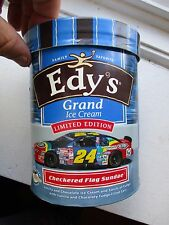 EDY'S JEFF GORDON CHECKERED FLAG GRAND ICE CREAM CONTAINERS empty