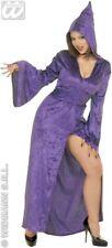 Purple Velvet Gown Hood XL  Goth White Witch Insta Hail Satan  Long Dress 16 18