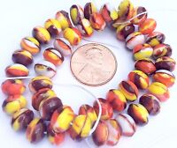 Fine Trade Czech Crystal yellow multi Rondelle fire Polished Glass beads