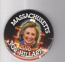 2016 pin HILLARY CLINTON pinback MASSACHUSETTS Campaign button