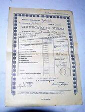 CERTIFICATO DI STUDIO FEMMINILE ELEMENTARE INFERIORE 1933 SCUOLA DI CERETOLO