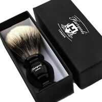 100% Genuine Badger Hair Silver Tip Shaving Brush Hand Crafted in the UK