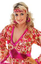 Mod Girl Earrings 60s 70s Glitter Pink Earrings Swirl Costume Jewellery BA1084