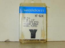 HO TRAIN HARDWARE- WALDOM- KF-624- FLAT HEAD STEEL MACHINE SCREWS- NEW- H50