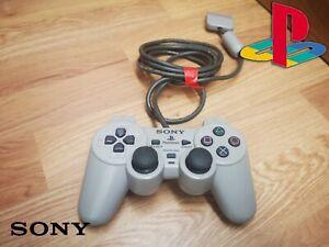🌟Playstation 1 controller🌟Grey Dual Analogue controller PS1 joypad🌟b