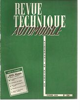 R.T.A. REVUE TECHNIQUE AUTOMOBILE N° 154 02/1959 OPEL OLYMPIA REKORD CARAVAN