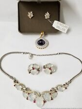 Vintage Fashion Trifari Nolan Miller Rhinestone Sim Gemstone Jewelry Collection