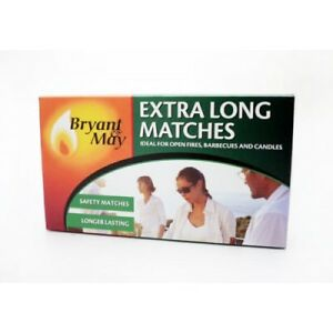 Extra Long Matches - Bryant & May - BBQ'S,Candles Fireworks -1,2 or 12