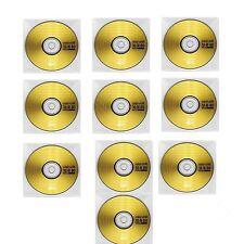10 x Maxell CDR 80 Music XL11 Audio CD-R  plastic sleeves