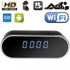 HD 720P Wifi P2P SPY Hidden Clock Camera IR Night Vision Motion Detect Video Cam