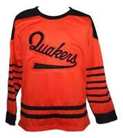 Any Name Number Size Philadelphia Quakers Custom Retro Hockey Jersey Orange