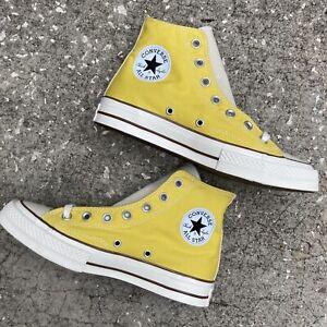 Converse Chuck Taylor High Tops Yellow Men 6 Women 8 NWOT All Star Brown Trim