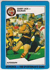 1989 SCANLENS/STIMOROL RUGBY LEAGUE: GARRY JACK #19 TIGERS/NSW ORIGIN/TEST (a)