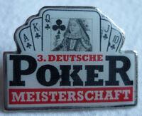 POKER 3. DEUTSCHE MEISTERSCHAFT 1994 TEILNEHMER PIN Berlin NOS