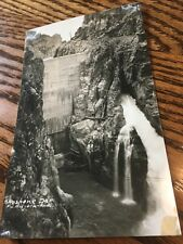 Shoshone Dam- Twin Falls Idaho RPPC- Real Photo - Snake River-postcard