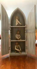 Willow Tree, The Roses in My Garden, Reliquary Display Shelf with 3 figurines