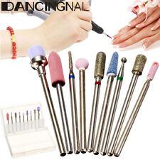 9pcs 3/32'' Electric Nail Drill Bits Cuticle Clean Manicure Pedicure Tools Set