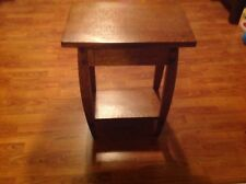 Contemporary Qtr Sawn Oak End Table Or Stand Solid Cherry