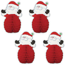 4 Christmas Party Mini Adorable SANTA CLAUS Honeycomb Table  Decorations