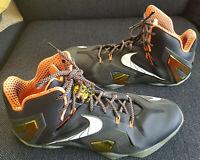 "Size US 14 Nike LeBron 11 Elite Black Gold ""32cm On The Inside"""