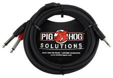 Pig Hog 10FT Stereo Breakout  Cable 3.5MM TO DUAL 1/4  PB-S3410