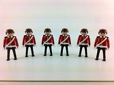 x6 english Playmobil Royal Guards Figures New 2014 Rare Lot Set Army Free Gift