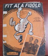 Fit As A Fiddle: Fox Trot - 1932 sheet music - Piano Vocal Guitar Uke - see cond