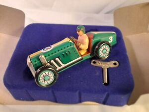 Schylling Speedway Racer Wind Up Tin Car Toy Race Car Green NEW IN BOX