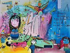 SANDRA JAYAT, le Printemps-Original-Main Signé Lithographie