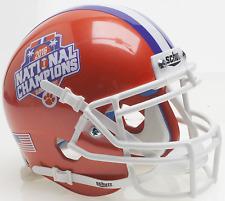 CLEMSON TIGERS 2016 NATIONAL CHAMPIONS Schutt XP Authentic MINI Football Helmet