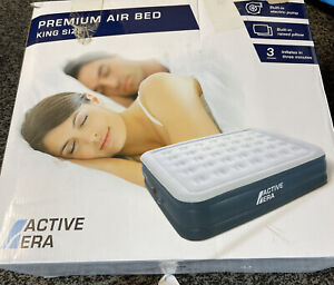 Active Era Premium King Size Air Bed Air Mattress with Built-in Pump and Pillow