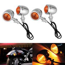 4X Bullet Motorcycle Turn Signal Indicator Light Amber Blinker for Harley Bobber