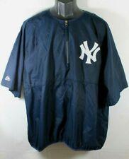 Majestic New York Yankees Baseball Batting Jacket Windbreaker MLB Size XL