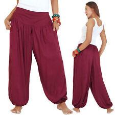 Damenhosen im Haremshosen aus Baumwolle mit weitem Bein