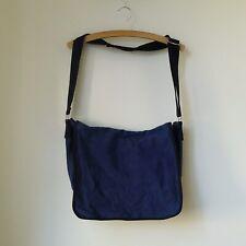 Rare AGNES B French Blue Cotton Messenger Shoulder Bag