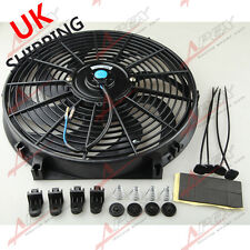 "Universal 14"" Curved S-Blade Electric Radiator Cooling Fan with Mounting Kit UK"