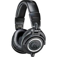 Audio-Technica ATH-M50x Sound-Isolating Monitor Headphones (Black)