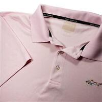 Greg Norman Golf Mens Short Sleeve Button Polo Dress Shirt Size Large Pink