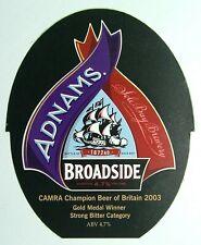 Beer Pump Clip Badge Insert Broadside Adnams Sole Bay Brewery Camra Purp PB313