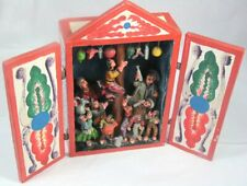 Folk Art Retablo Palo Encebado Shadow Box Altar Greasy Pole Signed Ayacucho Peru